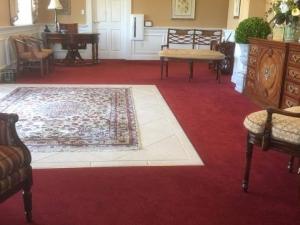 Red Color Restoration at Funeral Home in Fredericksburg, VA