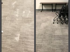 Grey Bleach Spot Repairs at Office Building in Alexandria, VA