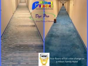 Carpet Color Change at Hilton Hotel in Atlantic City, NJ