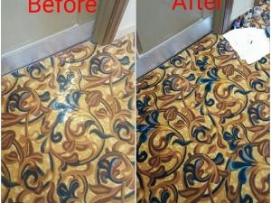 Bleach Spot Removal in Norfolk, VA Hotel